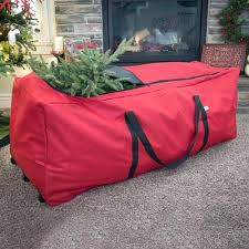 Upright Christmas Tree Storage Bag With Wheels Rolling Islands Ferry A
