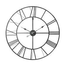 maison du monde si e social horloge en métal noir d 80 cm metal clock clocks and large clock