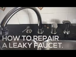Delta Faucet Leaking From Neck by How To Repair A Leaky Delta Faucet Youtube