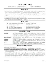 It Security Resume Template Example Com 1 Porter Cyber