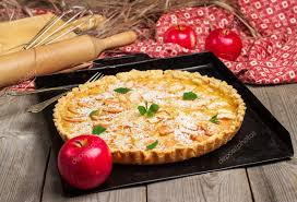 Apple Pie In A Rustic Style Stock Photo