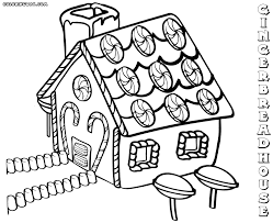 Gingerbread House Coloring Pages To Download And Of Animals