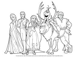 Full Image For Free Disney Coloring Pages Frozen Anna Elsa Hans Kristoff Sven And Printable