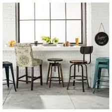 Threshold Barrel Chair Marlow Bluebird by Woodsboro Adjustable Barstool Metal Bronze Threshold Target