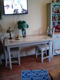 Dining Table And 4 Matching Chairs Not In Flint Grey Teal Top Of Is Italian Tiles Buyer Collect From Ground Level Peacehaven