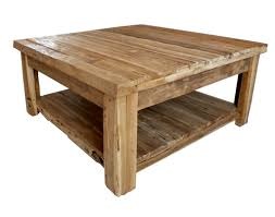 Modern Rustic Wood Coffee Table