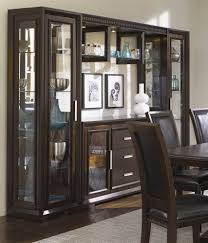 Modern Dining Room Sets With China Cabinet by Black Wood Contemporary Curio Bookcase Display Storage Cabinet