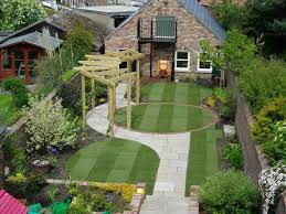 Slope Solutions Install Landscaping Sloped Backyard Landscape ... Landscape Sloped Back Yard Landscaping Ideas Backyard Slope Front Intended For A On Excellent Tropical Design Tampa Hill The Garden Ipirations Backyard Waterfall Sloping And Gardens 25 Trending Ideas On Pinterest Slopes In With Side Hill Landscaping Stones Little Rocks Uk Cheap Post Small