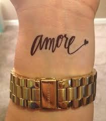 Temporary Handwritten Amore Tattoo