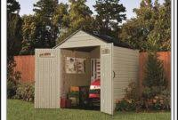 rubbermaid slide lid bicycle storage shed sheds home