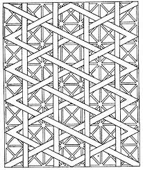 Simple Free Geometric Coloring Pages For Adults