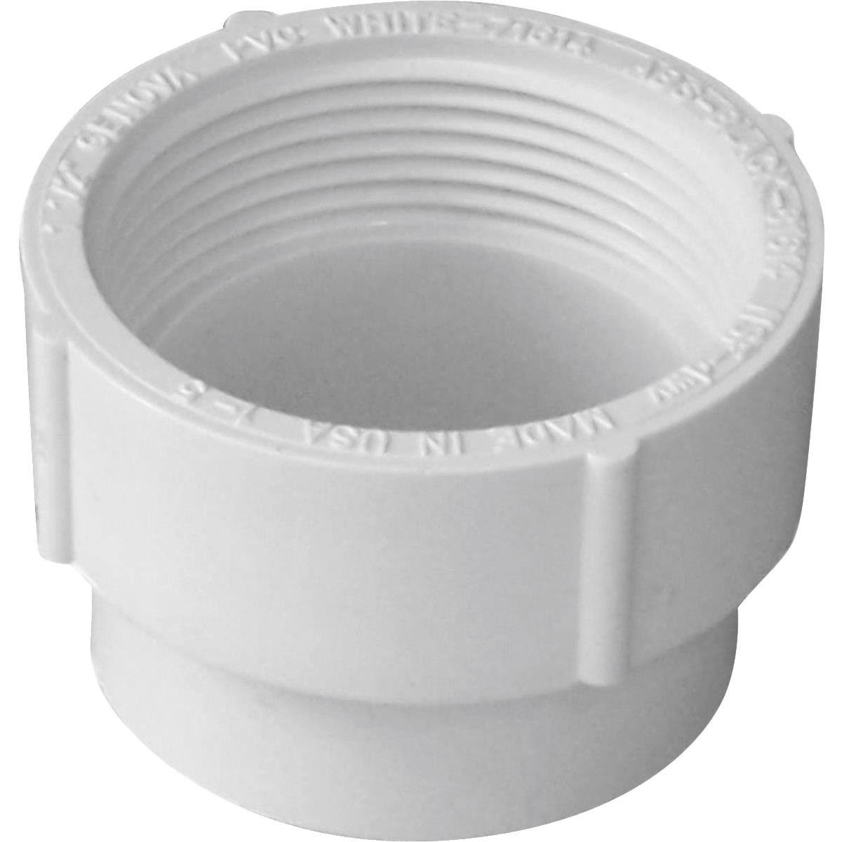 Genova Products Cleanout Adaptor - White, 4""