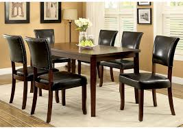 Dwight L 60 Oak Dining Table W 6 Side Chairs