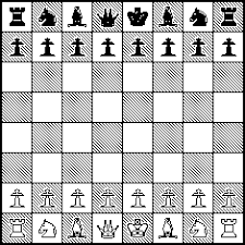 Diagram Showing The Starting Positions Of Chess Pieces On Board