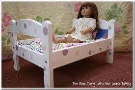 American Girl Doll Craft Make an Adorable Polka Dot Doll Bed