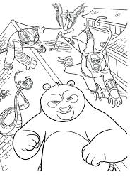 Full Image For Kung Fu Panda Mantis Coloring Pages