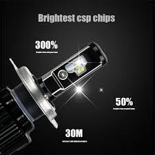 anmingpu 2pcs upgrade brightest h4 led bulb canbus no error