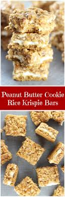 Peanut-butter-cookie-rice-krispie-bars-pin.jpg Chocolate Baked Northwest Guest Posting At Handmade By Hilani Occasionally Crafty Peanut Butter Rice Krispie Treats With Salted Caramel And 237 Best Fall Recipes Images On Pinterest Recipes Chocolate A Little Bit Crunchy Rock Roll Cup The Art Of Comfort Baking 23 Made With Butterscotch Crunch Bars Recipe Twists Old Bar Krispies Krispies Treats Butter Fudge