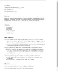 Resume Sample Cv Social Work Administration Archives Our Professional