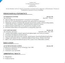 Automotive Mechanic Resume Samples Delectable Auto Technician Job Description