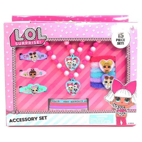LOL Surprise 15 Piece Hair & Jewelry Accessory Set