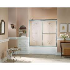 Home Depot Bathtub Doors by Sterling Deluxe 59 3 8 In X 56 1 4 In Framed Sliding Bathtub