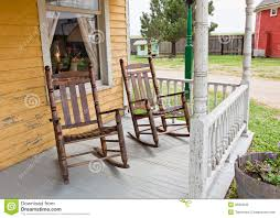 Front Porch Rocking Chairs Stock Photo. Image Of Light ...