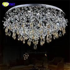 fumat k9 kristall kronleuchter decke le moderne kronleuchter wohnzimmer runde led licht weihnachten kristall blume chandliers