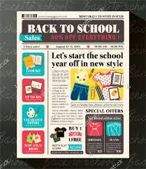 Best Back To School Promotional Design Newspaper
