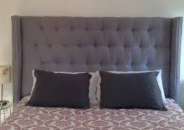 Roma Tufted Wingback Bed by King Size Tufted Headboards Foter