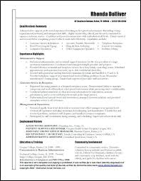 Executive Assistant Resume Samples Free With Administrative
