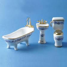 Royal Blue Bathroom Decor by 1 24 Scale 3 Pc Royal Blue Bathroom Set
