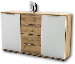 schlafzimmer kommode in wildeiche optik weiß