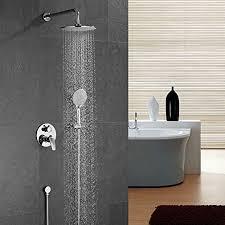 ubeegol duschsystem unterputz duscharmatur regendusche duschset komplettset mit 3 strahlarten handbrause überkopfbrause dusche set für bad