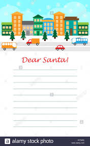 Dos Cláusulas Santa Escribiendo Cartas A Los Niños Santa Pensando