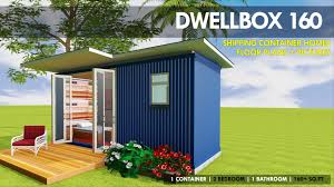 100 Shipping Container Homes Floor Plans DWELLBOX 160 ID S1110160D 1 Bed 1 Baths 160SFt