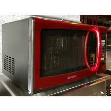 Emerson Red Household Microwave Oven 09 CU FT 900 Watt Touch