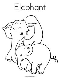 Elephant Coloring Pages Baby