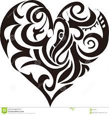 Tribal Art Heart Stock Vector Illustration Of Card Swirls 872835