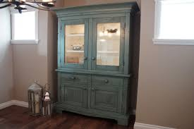 Farmhouse Cabinet Medium W 58 D 18 H 83 Including Upper 2 Pattern Glass Doors Shelves Pot Lights With Touch Dimmer