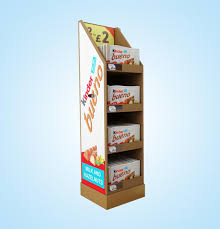 Hot Tags Four Tiered Cardboard Retail Pallet Display Stand