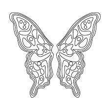 Pin Drawn Butterfly Color Cut Out 6