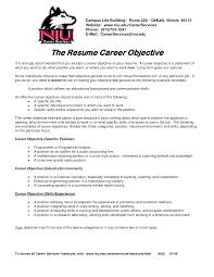 Career Objective For On Resume Sample