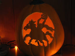 Free Headless Horseman Pumpkin Template by The Horrors Of Halloween Jack O Lantern Designs By Allhallowsghost