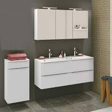 design badezimmer set in weiß doppelwaschtisch 3 teilig