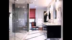 mosaik fliesen badezimmer dusche schwarz weiss modern