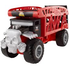 Hot Wheels Monster Truck Bone Shaker Monster Mover - Walmart.com
