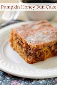 Libbys Marbled Pumpkin Cheesecake Recipe by Pumpkin Honey Bun Cake A Gooey Brown Sugar And Walnut Filling In