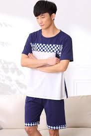 jcvanker summer popular cotton pajama sets for mens casual white