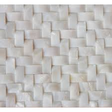 white shell wall tiles arched of pearl tile herringbone